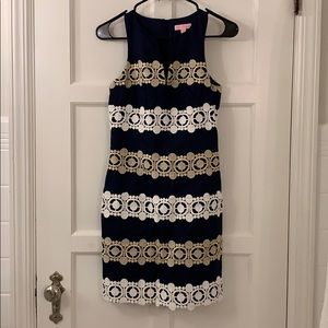 Classic blue gold and white Lilly Pulitzer dress